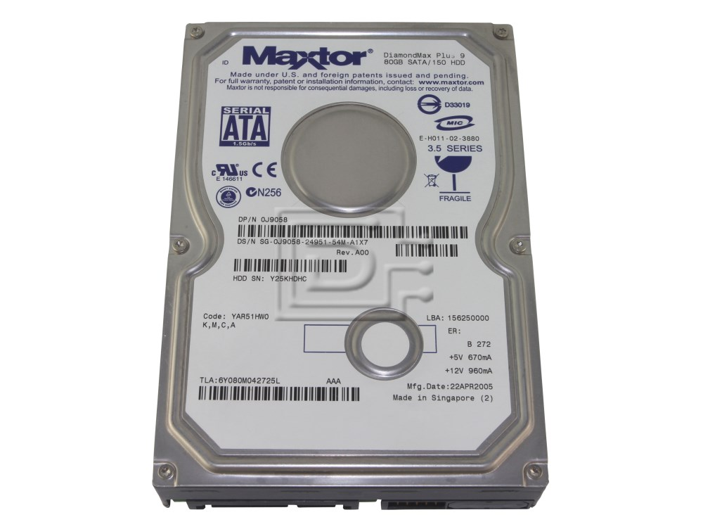 Maxtor 6Y080M0 SATA hard drives image 1