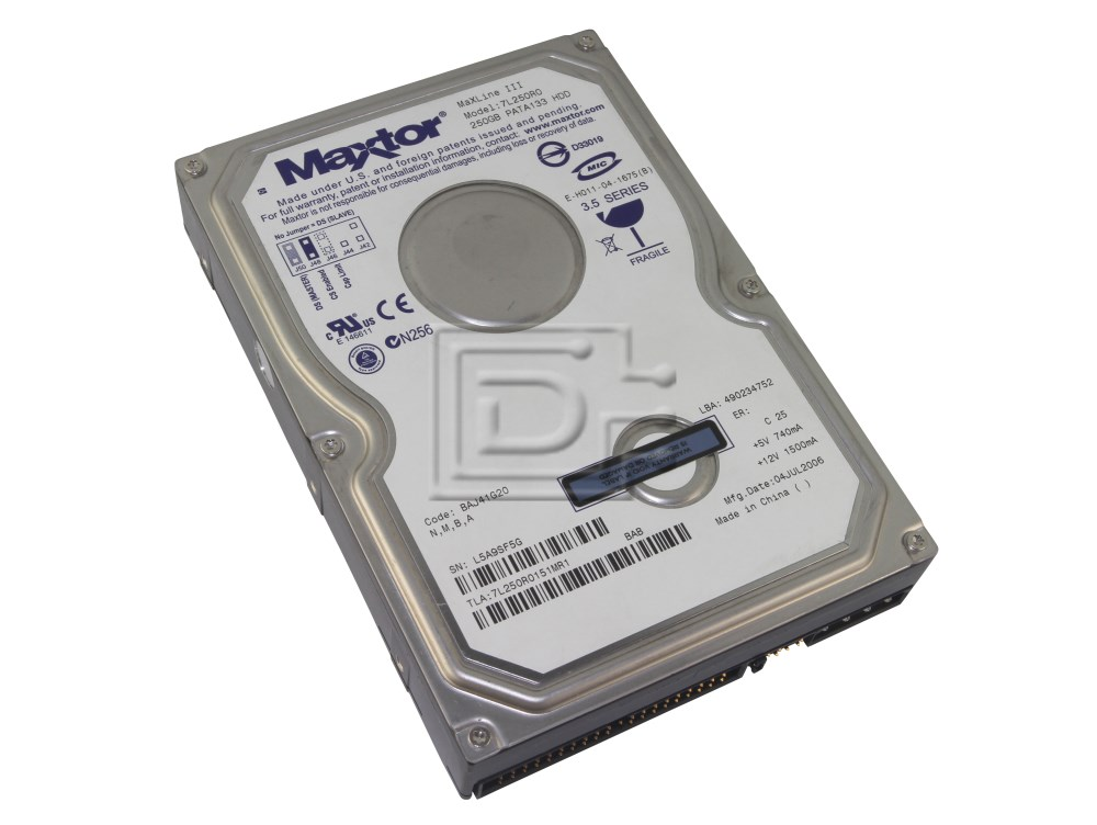 MAXTOR 7L250R0 DRIVERS FOR WINDOWS VISTA