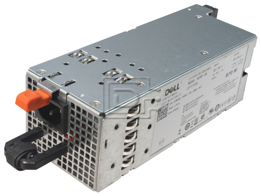 Dell 7NVX8 07NVX8 A870P-00 YFG1C 0YFG1C D263K 0D263K 330-4524 N870P N870P-S0 NPS-885AB PowerEdge R710 870W Power Supply image 1