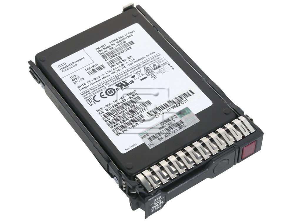 HEWLETT PACKARD 816568-B21 816582-001 816559-002 MZILS960HCHP-000H3 SAS Solid State Drive image 2