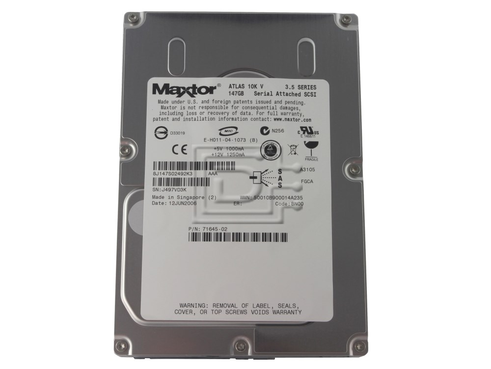 Maxtor 8J147S0 SAS SCSI Hard Drives image 1