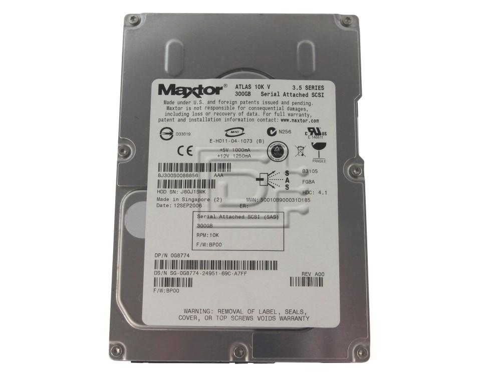 Maxtor 8J300S0 G8774 0G8774 SAS SCSI Hard Drives image 1