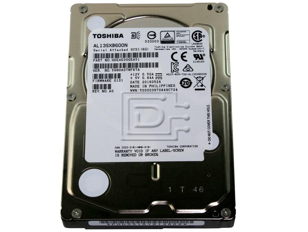 Toshiba AL13SXB600N HDEAE00DAA51 SAS 2.5inch Small Form Factor Hard Drive image 1