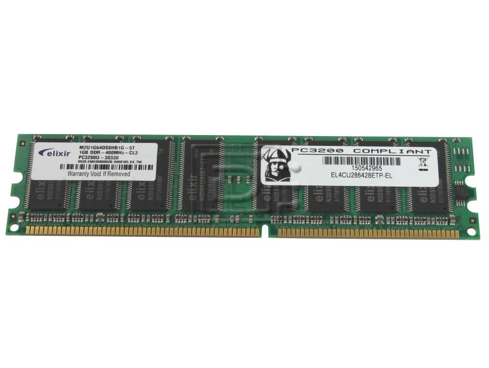 1GB DDR-400 PC3200 Non-ECC Desktop PC DIMM Memory RAM 184-pin
