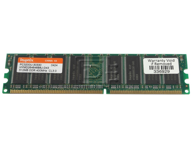 Samsung / Micron / NEC / Hynix / Nanya / Kingston / Generic - 512MB DDR-400  RAM Module