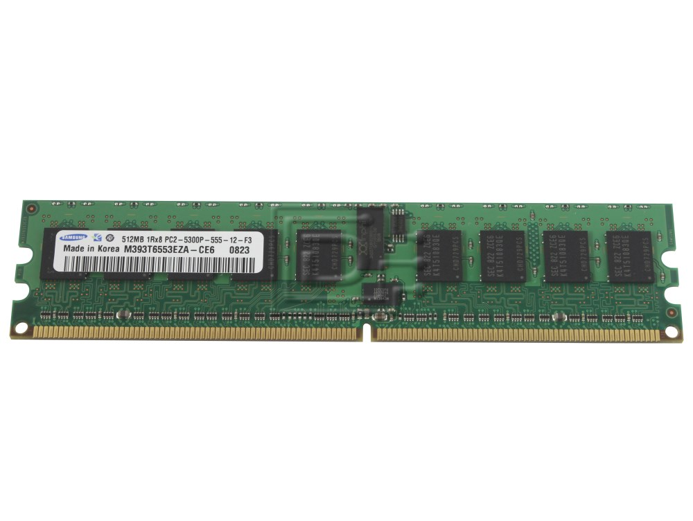 Samsung Micron Nec Hynix Nanya Kingston Generic 512mb Ddr2 Cl 5 Registered Buffered Ecc Ddr2 667 Pc2 5300r Pc2 5300p 1rx8 240 Pin Dimm