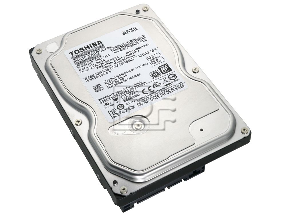 1YR Warranty Major Brand 500GB 7200 RPM SATA HDD for Desktops and Workstations