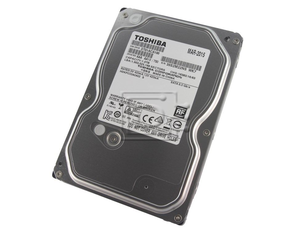 Toshiba DT01ACA100 9F13180 HDS721010DLE630 DS7SAE100 SATA hard drive image 1