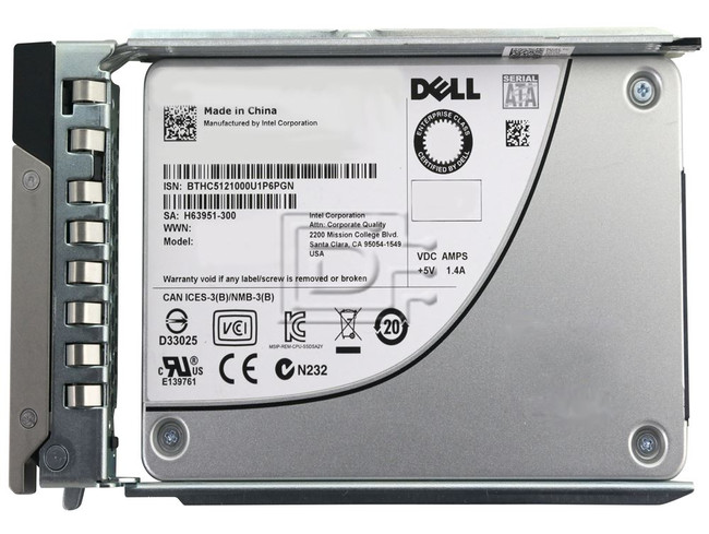 Dell 400-AVMW 1 6TB Mixed Use SATA SSD Kit