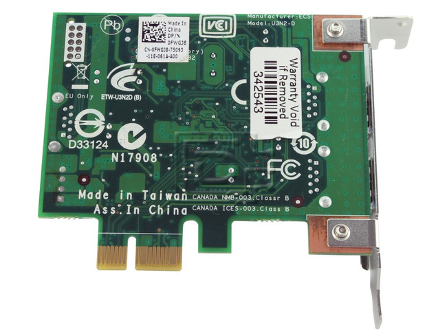 Dell FWGJ8 0FWGJ8 Expansion Controller Card image 2