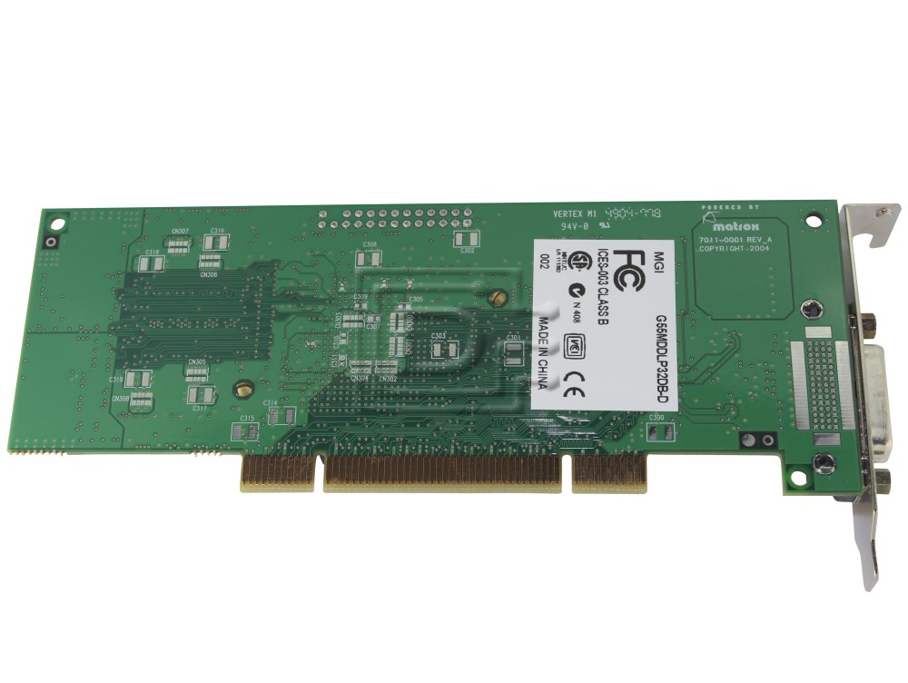 MATROX GRAPHICS G55MDDAP32DB Dual Monitor Head Video Card image 5