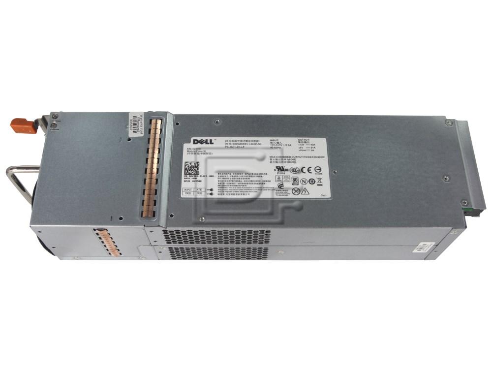 Dell GV5NH 0GV5NH NFCG1 0NFCG1 H600-S0 HP-S6002E0 L600E-SO PS-3601-2D-LF 6N7YJ 06N7YJ N441M 0N441M H600E-S0 T307M 0T307M Powervault Power Supply image 1
