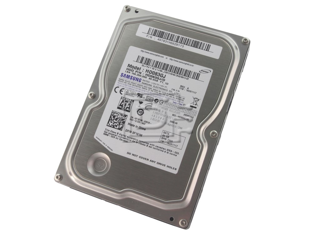 SAMSUNG HD083GJ SATA hard drives image 1