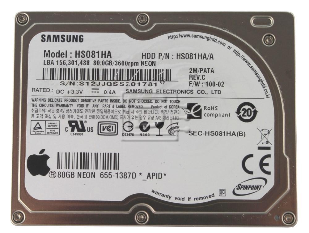 SAMSUNG HS081HA 655-1387D iPod CE hard drive image 1
