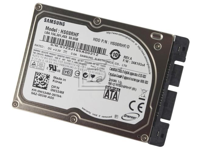 "SAMSUNG HS08RHF W534M 0W534M SATA 1.8"" Hard Drive image 1"