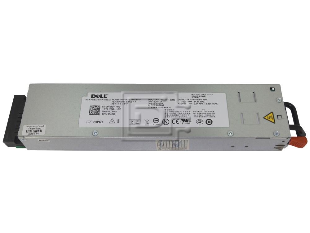 Dell New PowerEdge 1950 670W PowerSupply P424D 0P424D CN-0P424D
