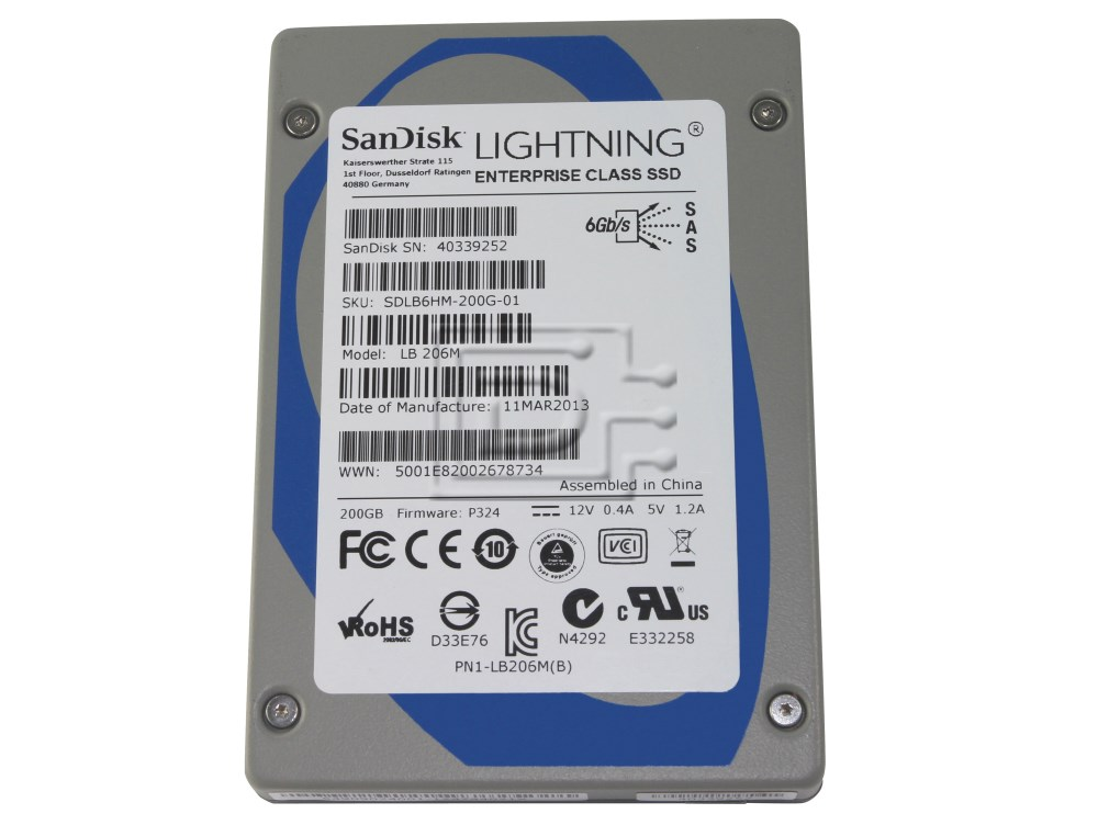 Sandisk Lb206m 200gb Sas Enterprise Solid State Drive