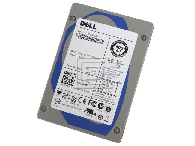 SANDISK LB406S 8NW1H 08NW1H 400GB SAS SSD Drive image 1