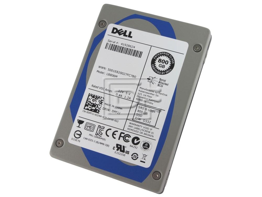 SANDISK LB806M SDLB6HM-800G DPF1J 0DPF1J Enterprise eMLC SAS SSD image 1