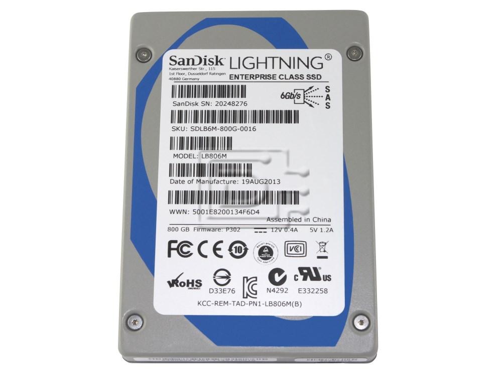 SANDISK LB806M SDLB6HM-800G SAS SSD Hard Drive image 1