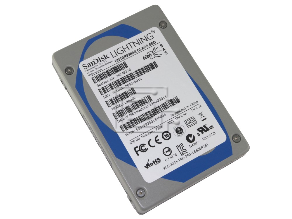 SANDISK LB806R SDLB6JC-800G SAS SSD image