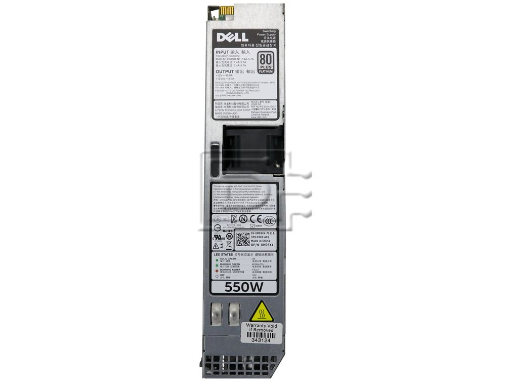 Dell M95X4 7VT4T 331-7133 0M95X4 1J45G 01J45G RYMG6 0RYMG6 L550E-S0 Dell Power Supply image 2