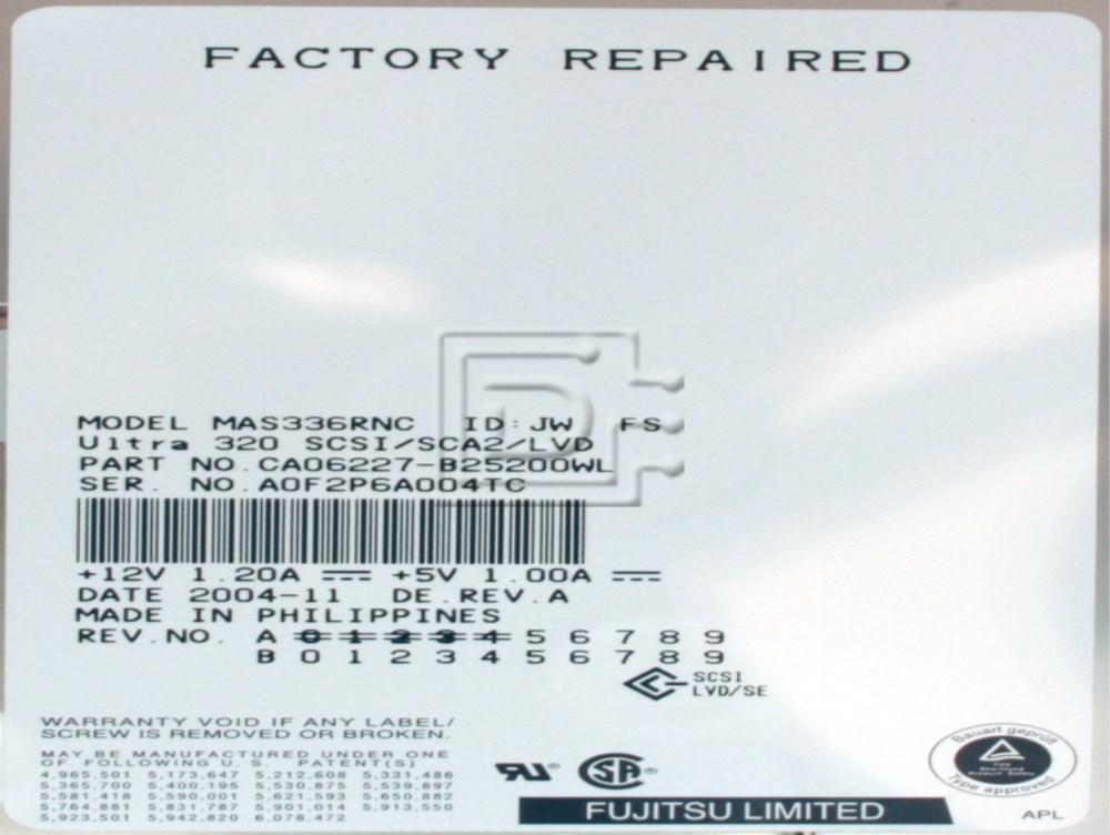 FUJITSU MAS3367NC SCSI Hard Drive image 2