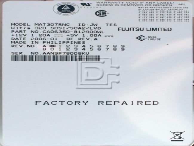 FUJITSU MAT3073NC SCSI Hard Drive image 2