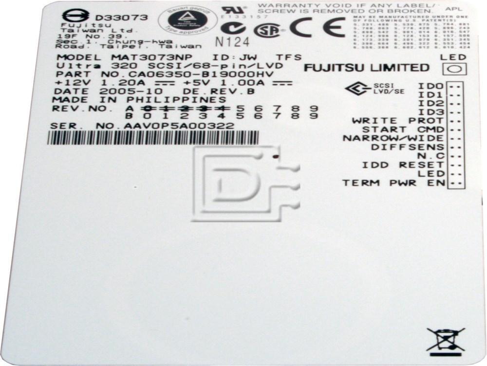 FUJITSU MAT3073NP SCSI Hard Drives image 2