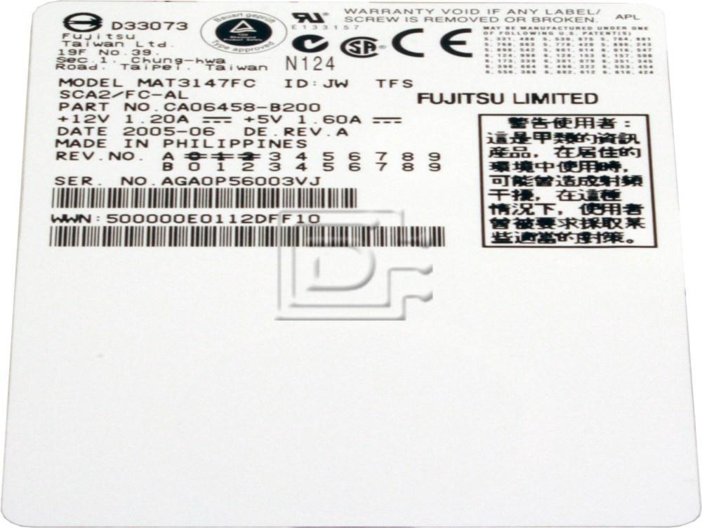 FUJITSU MAT3147FC Fibre Fiber Channel Hard Disks image 2