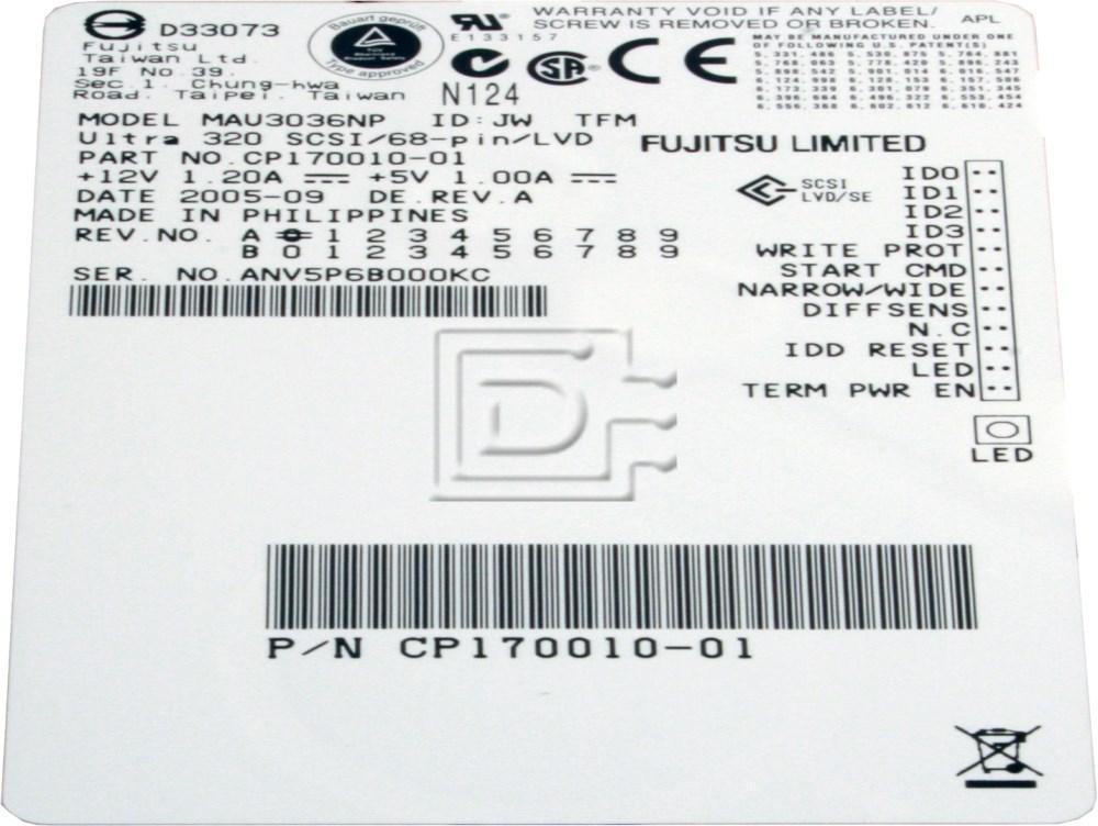 FUJITSU MAS3367NP SCSI U320 36GB 15K 68-pin LVD