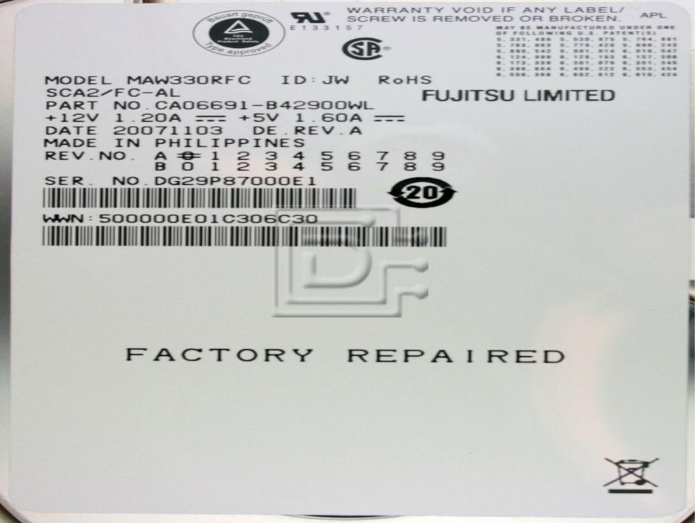 FUJITSU MAW3073NP CA06550 SCSI Hard Drives image 2