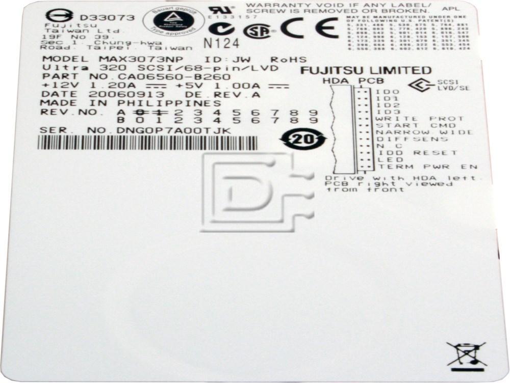 FUJITSU MAX3073NP SCSI Hard Drive image 2