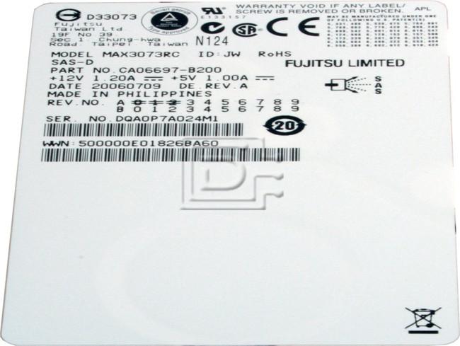 FUJITSU MAX3073RC SAS Hard Drive image 2