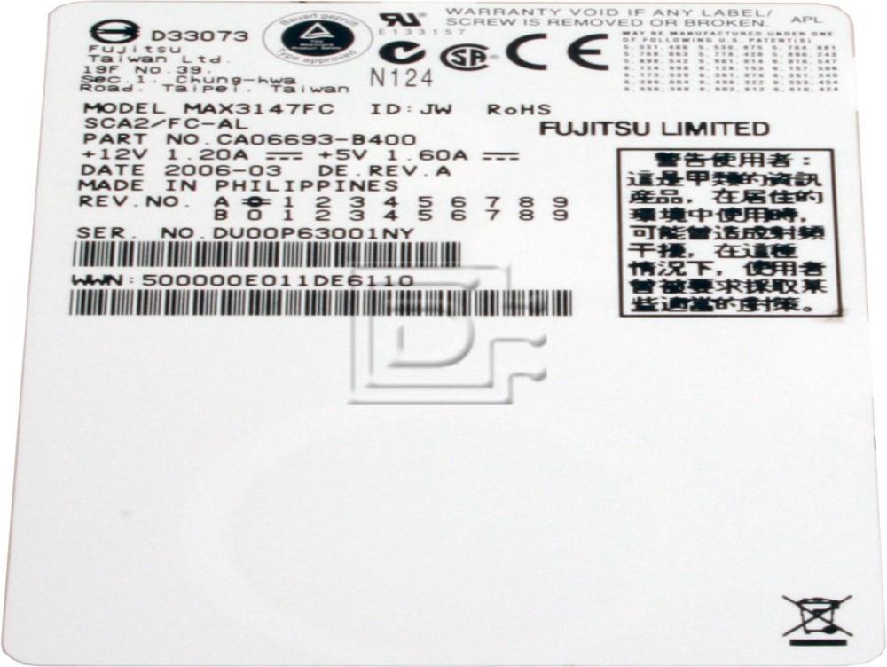 FUJITSU MAX3147FC Fibre Fiber Channel Hard Disks image 2