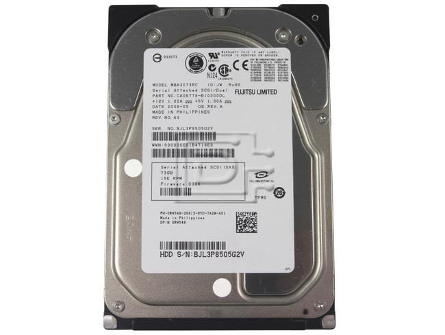 FUJITSU MBA3073RC CA06778-B100 0RW548 RW548 SCSI Hard Drive image 1