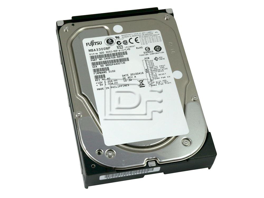 FUJITSU MBA3300NP CA06708-B850 SCSI Hard Disk Drives image 1