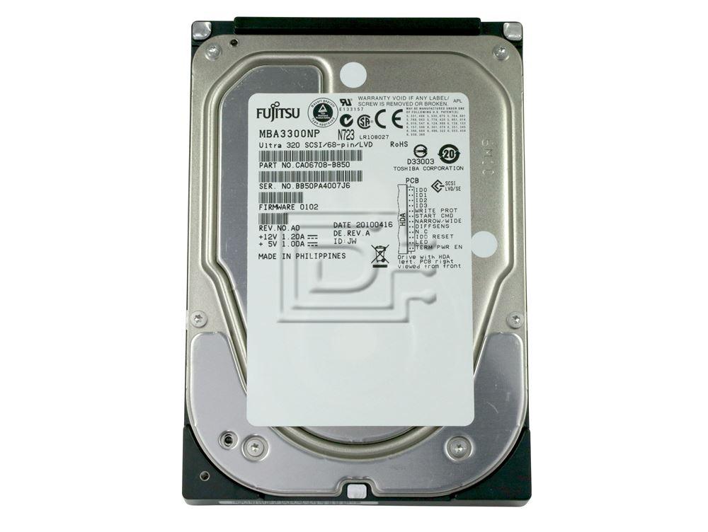 FUJITSU MBA3300NP MBA330RNP CA06708-B850 SCSI Hard Disk Drives image 2