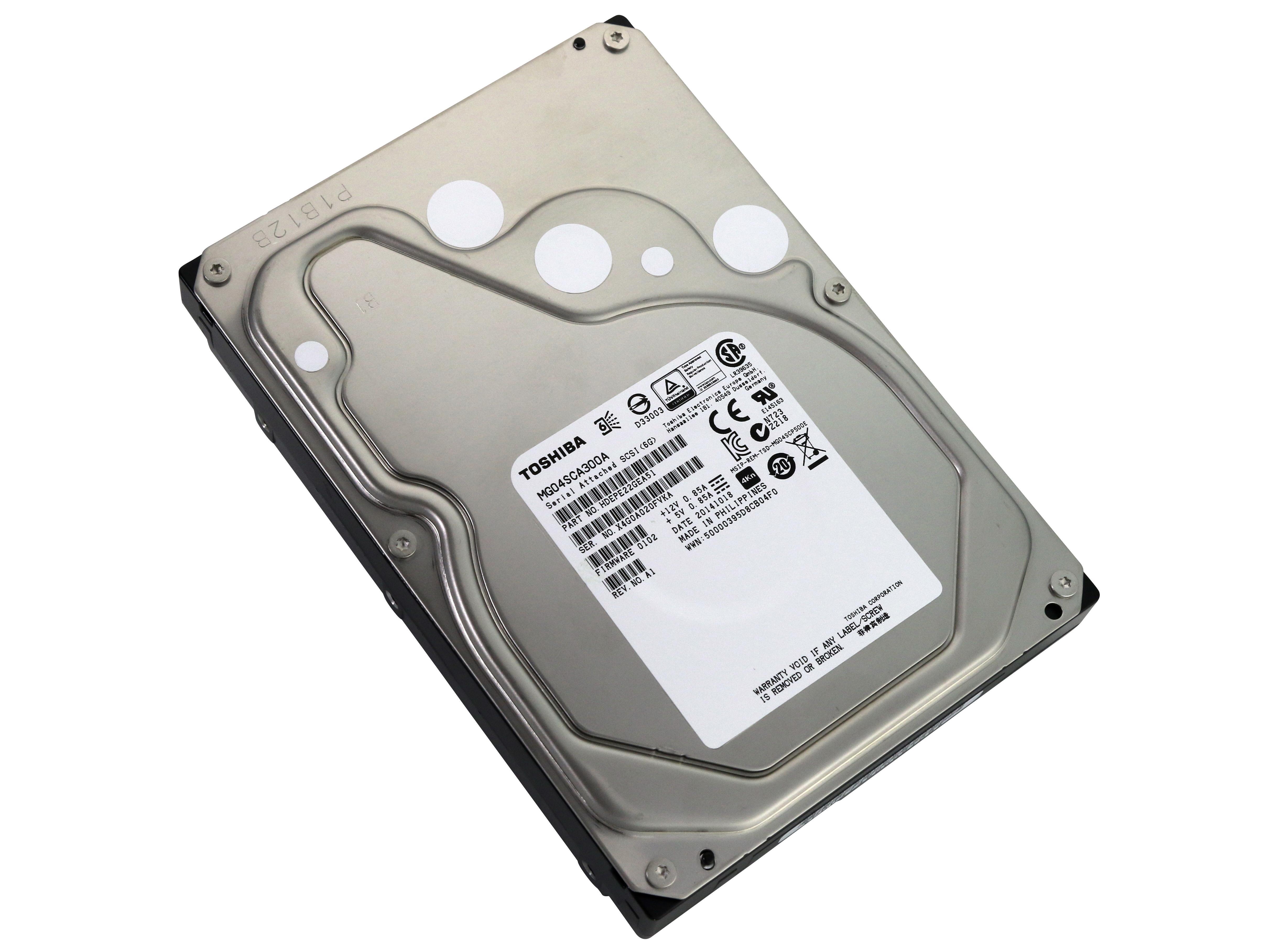 Toshiba MG04SCA300A HDEPR13GEA51 SAS 3TB 3000GB Enterprise Hard Drive image 1