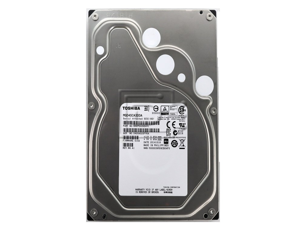 Toshiba MG04SCA300A HDEPR13GEA51 SAS 3TB 3000GB Enterprise Hard Drive image 2