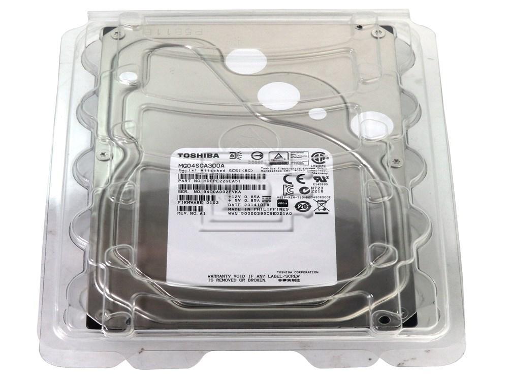 Toshiba MG04SCA300A HDEPR13GEA51 SAS 3TB 3000GB Enterprise Hard Drive image 5