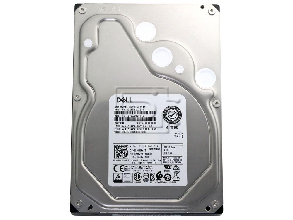 Toshiba MG04SCA40ENY HDEPF82DAB51 1MVTT 01MVTT SAS Hard Drive image 2