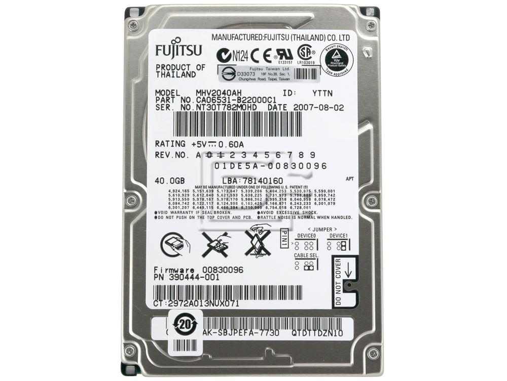 """FUJITSU MHV2040AH 2.5"""" IDE Hard Drive image 2"""