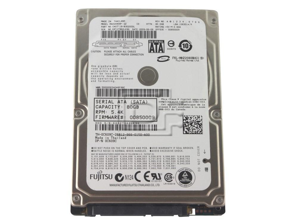FUJITSU MHZ2080BH 80GB SATA Hard Drive image 1