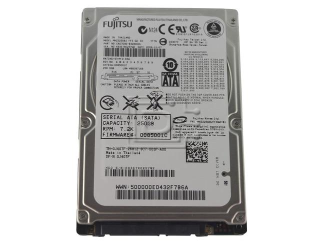 "Toshiba MHZ2250BJ J407F 0J407F 250GB 2.5"" Laptop SATA Hard Drive image 1"