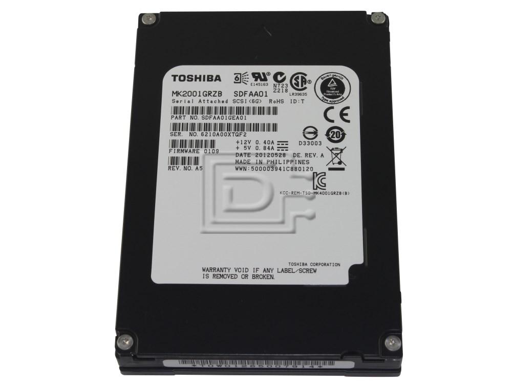Toshiba MK2001GRZB B00718ZCG6 SLC NAND 200GB SAS SSD Drive image 1