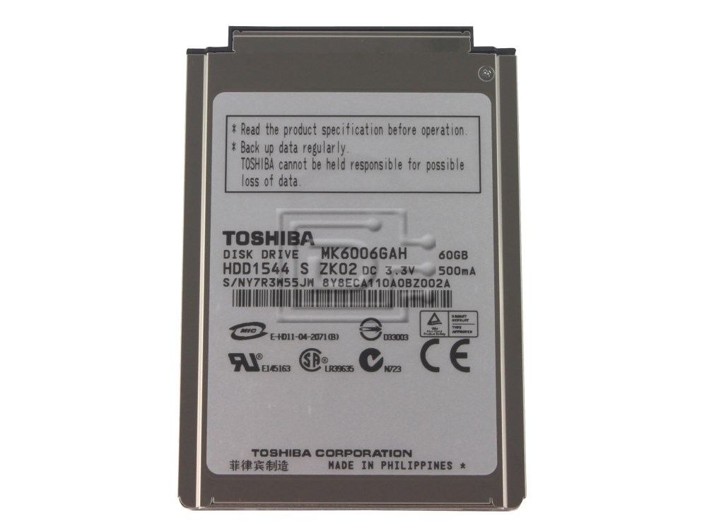 Toshiba MK6006GAH Laptop IDE ATA100 Hard Drive image 1