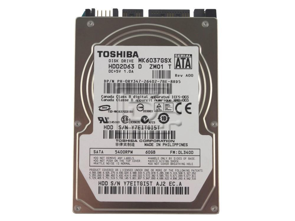 Toshiba MK6037GSX Laptop SATA Hard Drive image 1