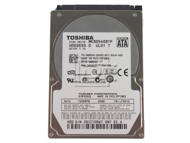 Toshiba Mk8054gsyf 80gb 7 2k 2 5 Sata Hard Drive Refurbished