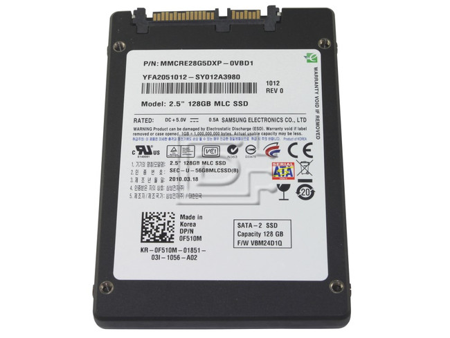 "SAMSUNG MMCRE28G5DXP-0VB 0F510M F510M Laptop SATA 2.5"" SSD Solid State Hard Drive image 1"
